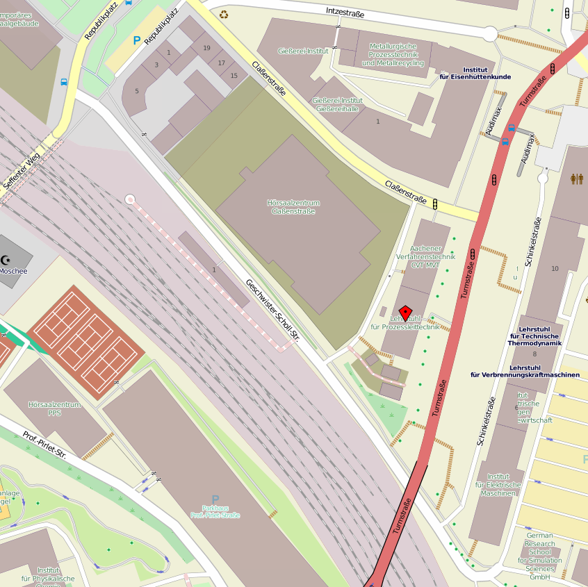 map with marked building