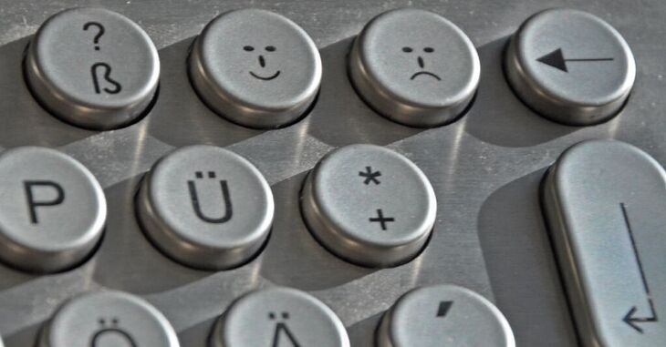 Keyboard with smileys